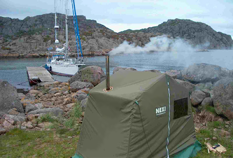 Sauna tents - very Finnish!